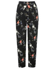 Petite floral print trousers