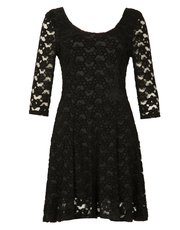 Izabel lace overlay skater dress