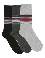 Gentle Grip stripe socks three pack