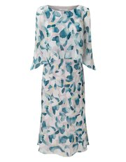 Jacques Vert abstract print soft dress