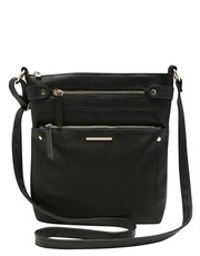 Zip pocket cross body bag