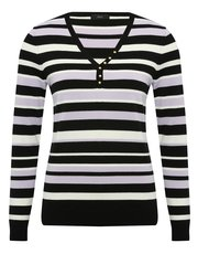 Stripe stud trim jumper