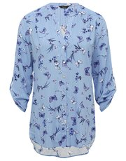 Butterfly stripe print shirt