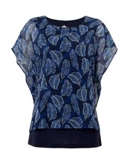 TIGI georgette overlay top