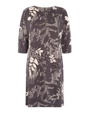 VIZ-A-VIZ bamboo leaf dress