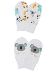 Animal print scratch mitts two pack