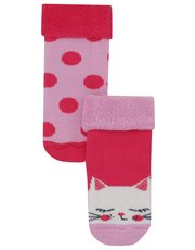 Cat and spot socks two pack