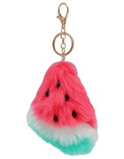 Teens' watermelon pom pom keyring