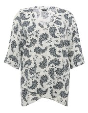 Plus paisley print tunic top