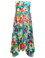 Bright floral print two in one beach dress