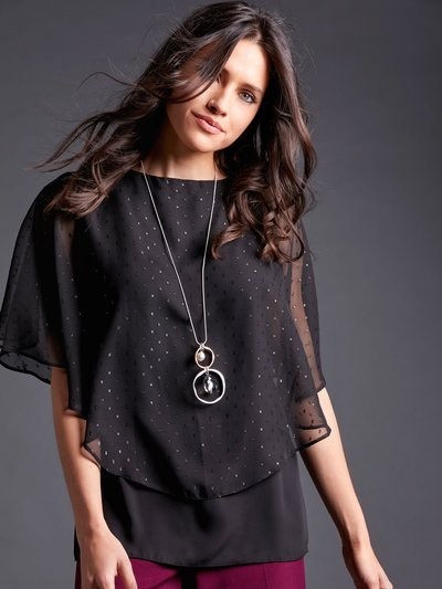 Sparkly layer necklace top