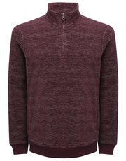Zip neck marl fleece