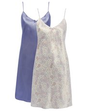 Satin nightdress two pack