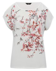 Petite cherry blossom embroidered top