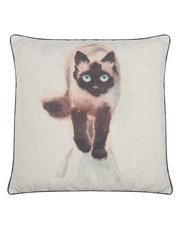 Balinese cat print cushion