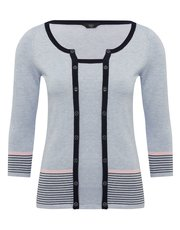 Petite two in one cardigan top