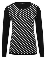 Monochrome stripe jumper