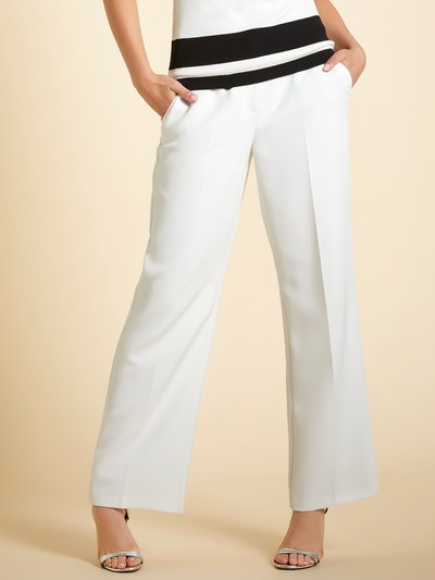 Wide leg crepe trousers