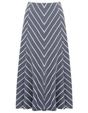 Chevron stripe A line skirt