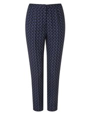 Eastex jacquard straight leg trousers