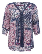 Plus floral patchwork top