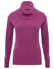Roll neck button trim jumper