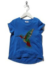 Sequin hummingbird t-shirt