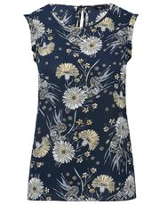Petite sleeveless floral print top