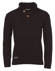 Brakeburn button neck jumper