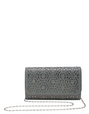 Diamante envelope clutch bag