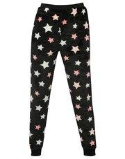 Star print fleece pyjama trousers