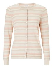 Eastex stripe button up cardigan