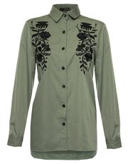 Quiz floral embroidered shirt