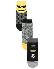 Emoji trainer socks three pack