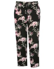 Plus floral print trousers