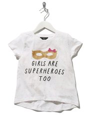 Superhero slogan print t-shirt