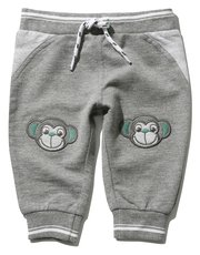 Monkey knee patch joggers