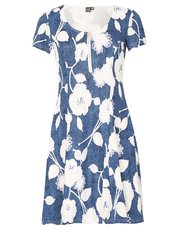 Izabel zip front floral print dress