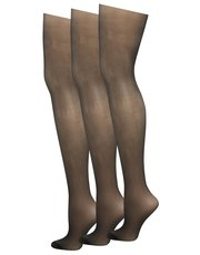 10 denier glossy tights three pack