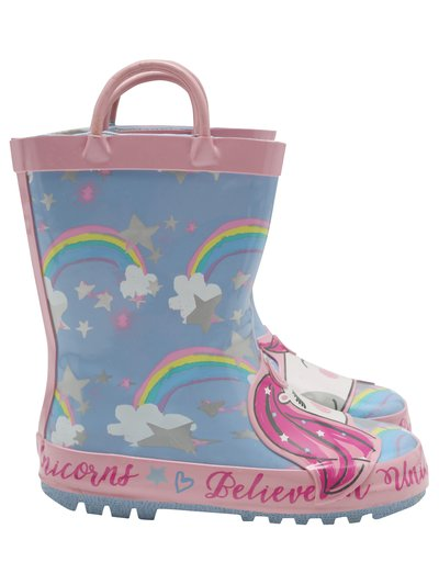 Unicorn wellington boots