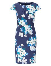 Precis Petite oriental floral shift dress