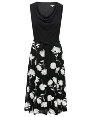 Floral cowl fit and flare dress