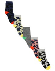 Camouflage socks five pack