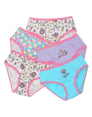 Mermaid print briefs five pack