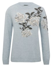 Floral crew neck jumper