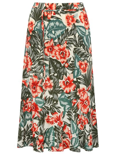 Tropical tie waist skirt