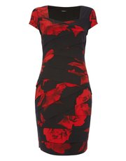 Roman Originals rose print pleat dress