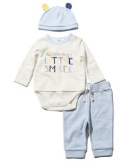 Slogan bodysuit joggers and hat set