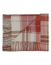 Woven check throw