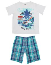 Chill slogan print pyjamas